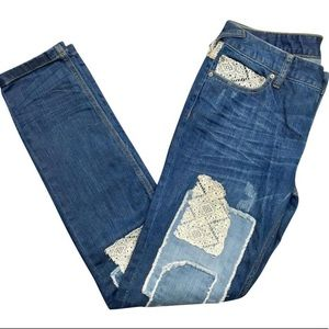 Like New Free People Patchwork Jeans Size 28